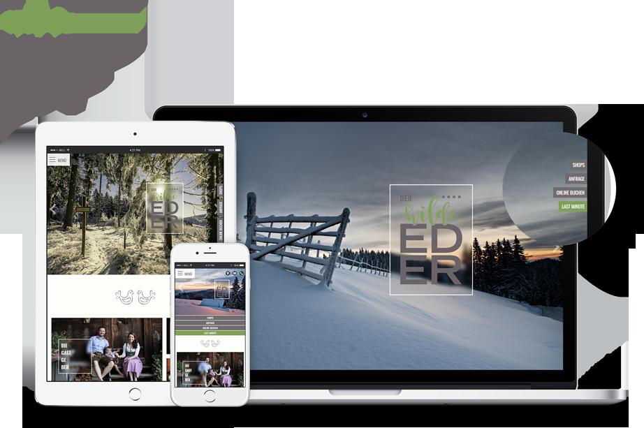 Optimale Darstellung der Homepage auf Smartphone, Tablet & Co