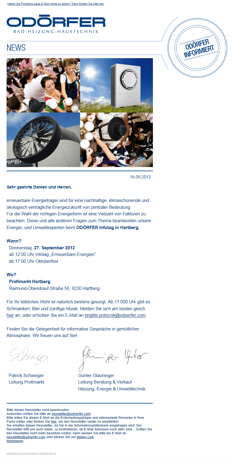 Newslettermarketing mit dem power newsletter Tool aus Graz