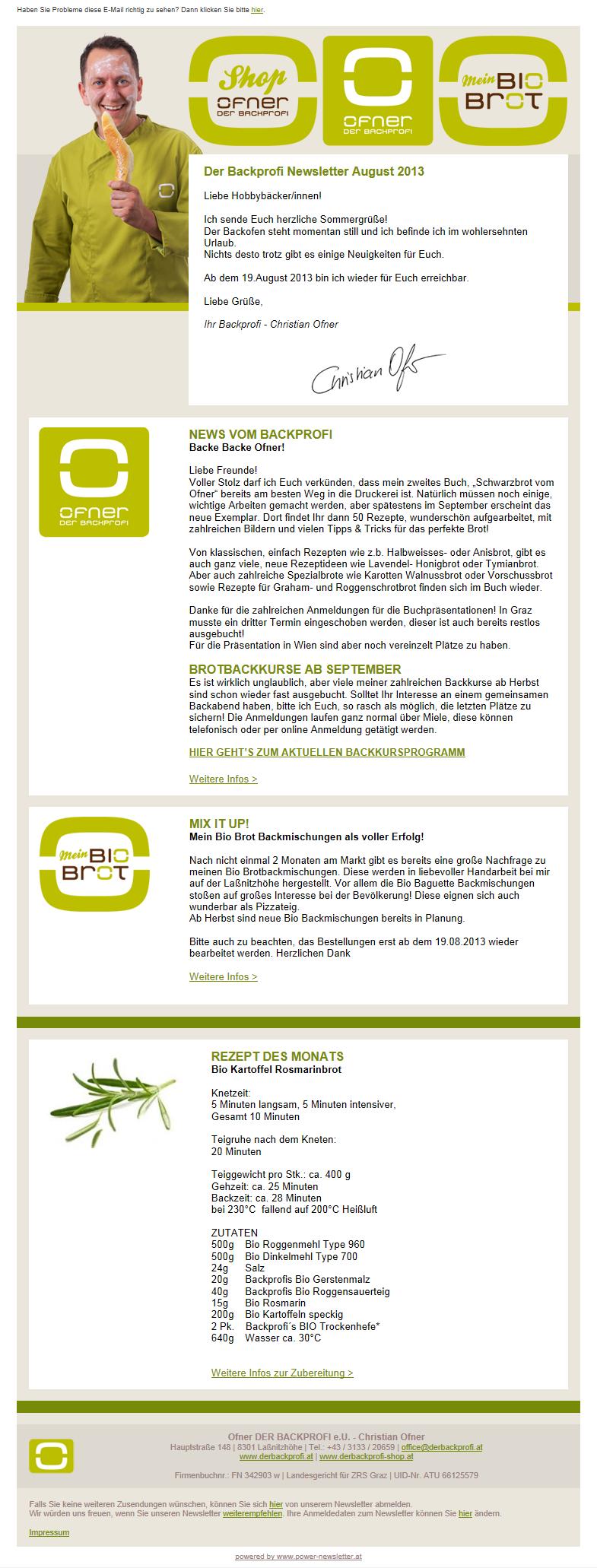 Anbieter Newslettersystem Graz