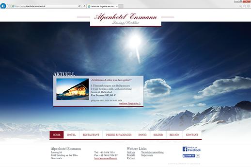 Homepage optimiert für Desktop, Smartphone und Tablets