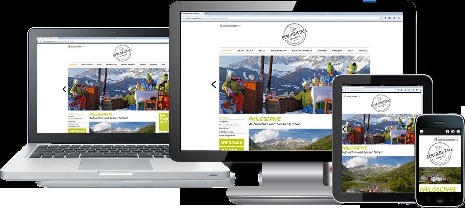 Homepage optimiert für alle Endgeräte