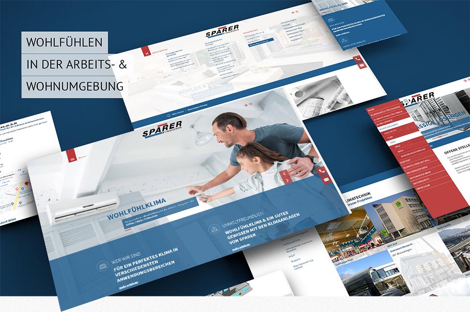 Responsive Homepage mit CMS für Sparer