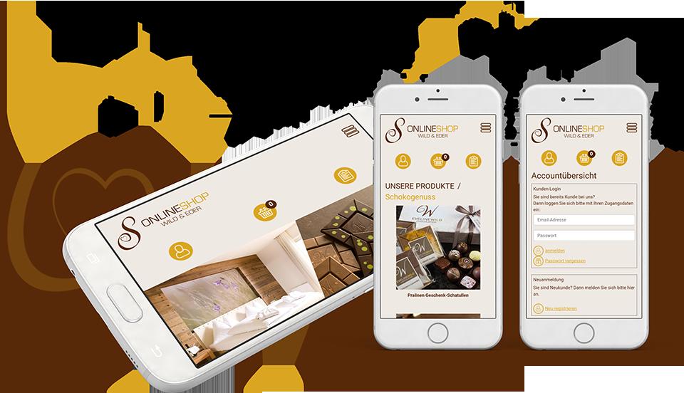 Online Shop Evenline Wild Smartphone Darstellung