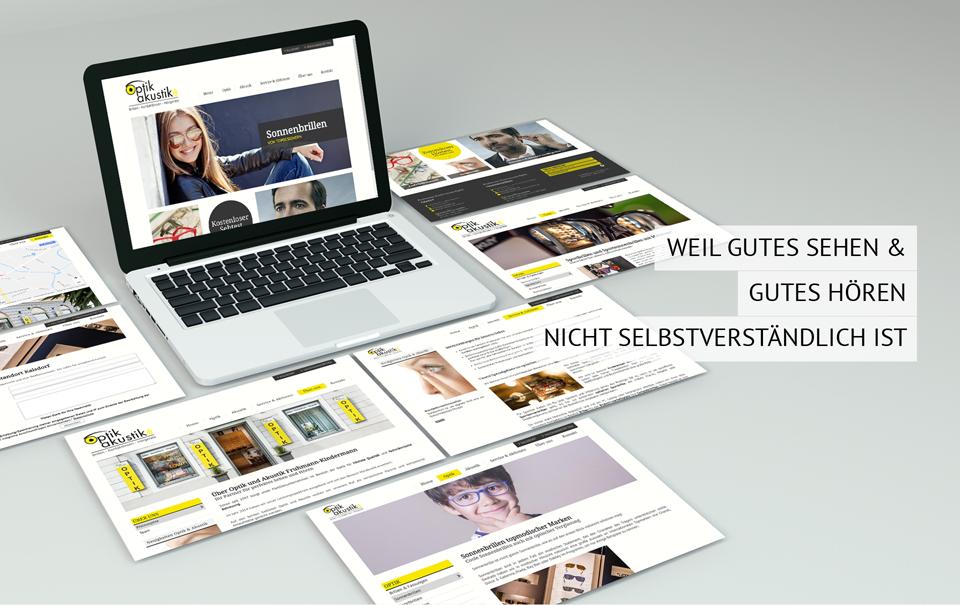 Homepage für Optiker Fruhmann-Kindermann