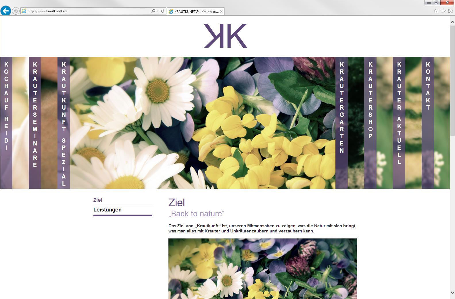 Homepage mit CMS für Smartphone