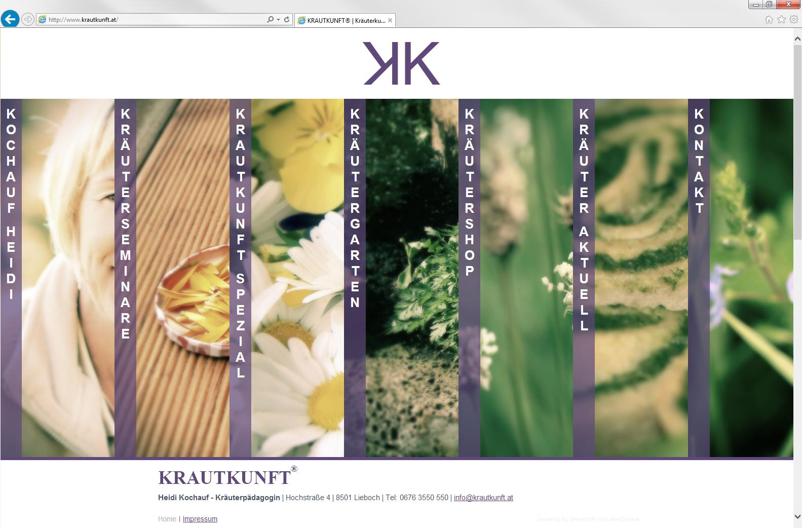 Homepage optimiert für Tablet und Smartphone