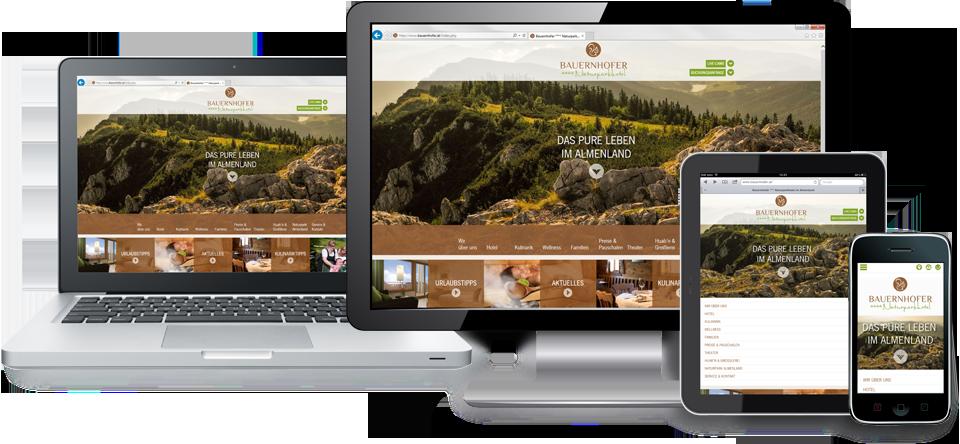 Eine Homepage für Smartphone, Tablet und Desktop: Responsive Webdesign