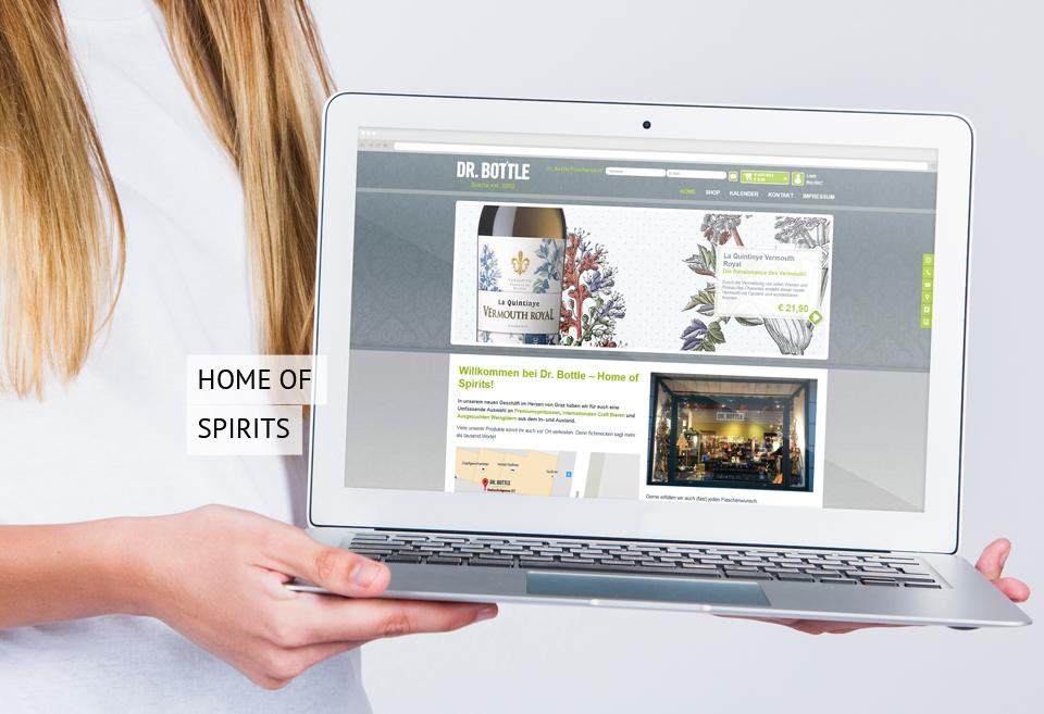 Online Shop für Dr. Bottle - Home of Spirits