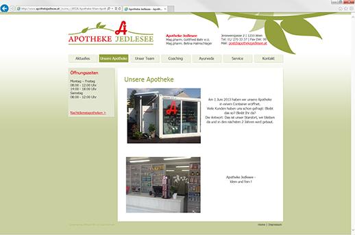 Content Management System für Apotheke Jedlesee