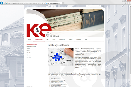 Homepage K&E aus Graz