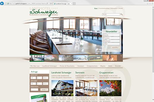 Google Optimierung für Landhotel Schwaiger