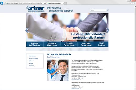 Homepage Steiermark für Ortner Medizintechnik