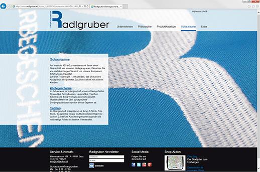 Programmierung Homepage für Radlgruber